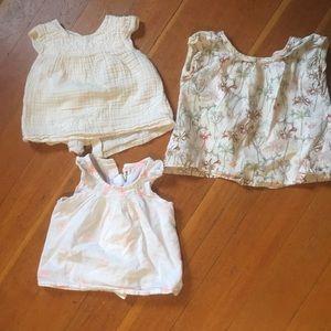 3 Bonpoint blouses 12-18m cotton
